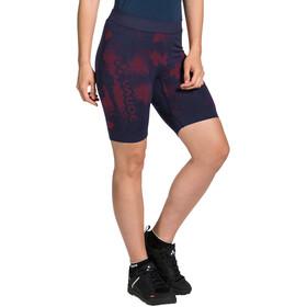 VAUDE SQlab LesSeam Spodnie krótkie Kobiety, niebieski/czerwony